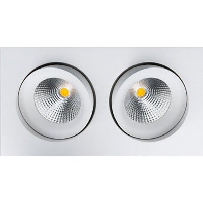 Gyro Osram Sq White Twin Led D Light Lightingplus