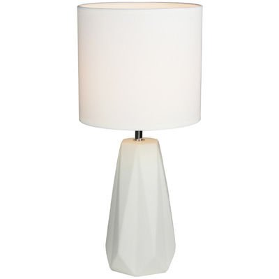 Shelly Ceramic Table Lamp White