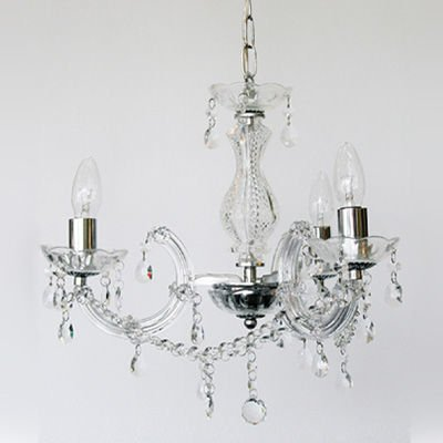 Marie Therese Chrome Clear 3lt Pendant